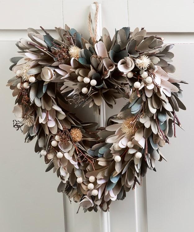 Heart Design Dried Floral Wreath