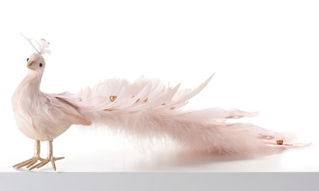 Pink Feathered Ornament