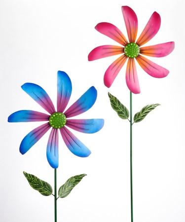 FlowerSpinnerGardenStake2Asst