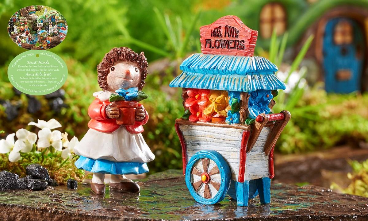 Mini World Forest Friends Figurine/Cart, 2/Asst.