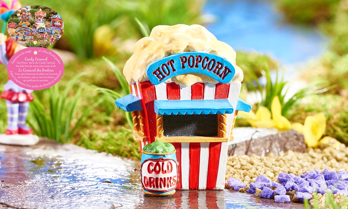 Mini World Candy Carnival, Popcorn Stand Design Figurine