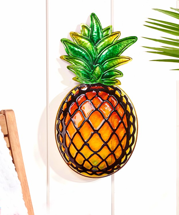 Stained Glass Pineapple Design Wall Plaque