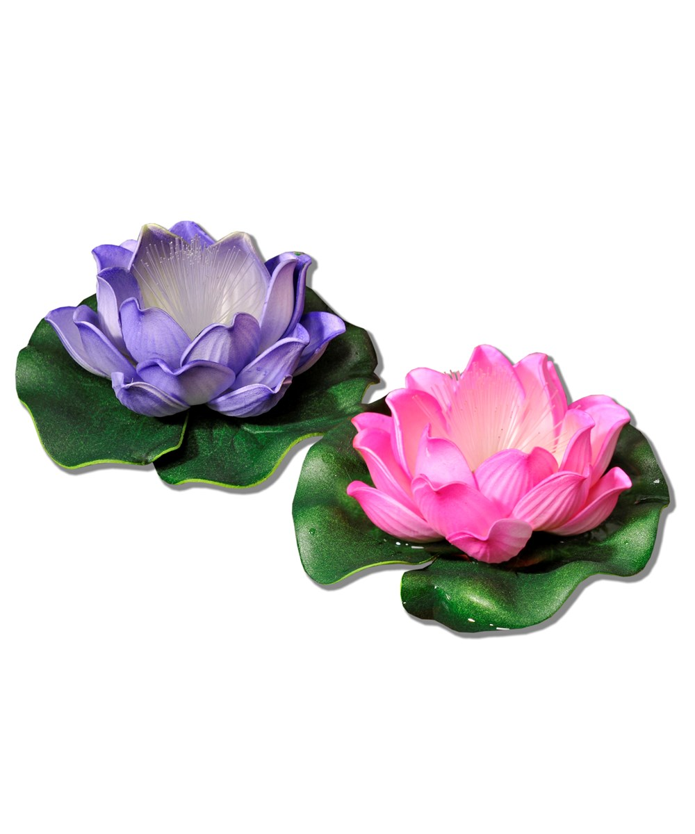 LED Lighted Lotus Flower Floatie, 3/Asst.