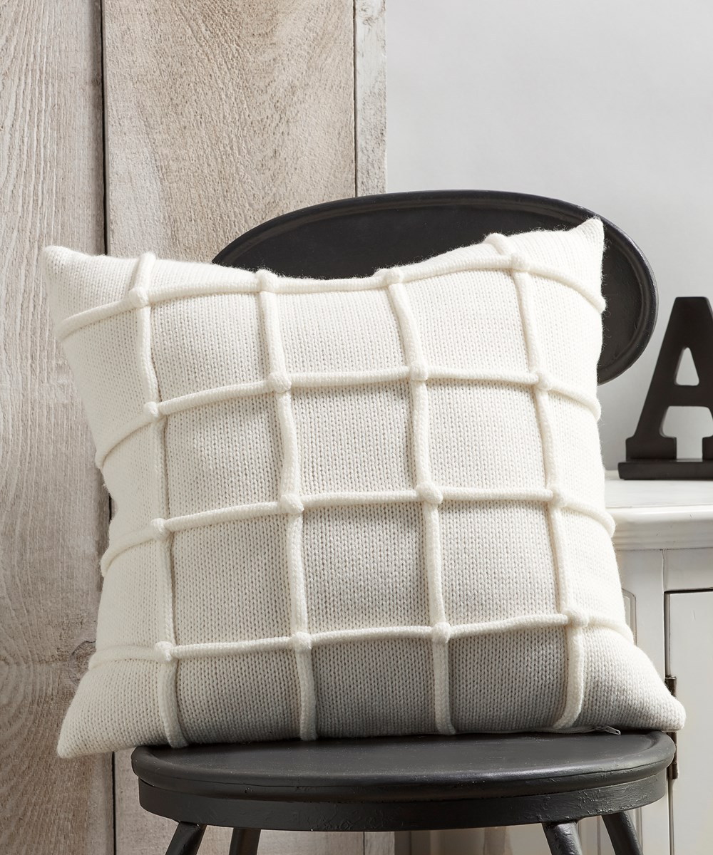 White Pillow w/Raised Stripe Pattern