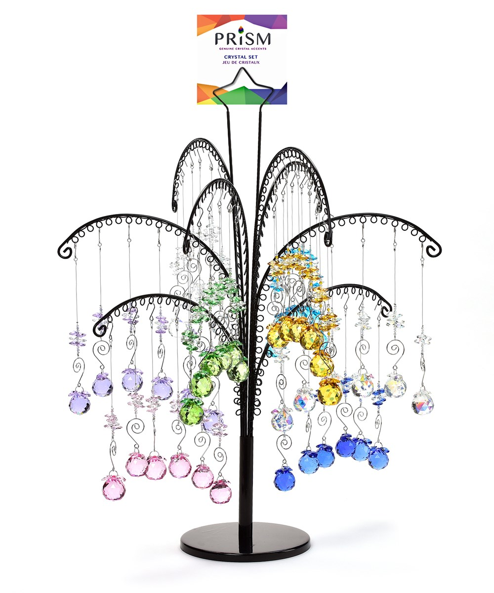 Prism Hanging Crystal, 48 Pcs. w/Displayer