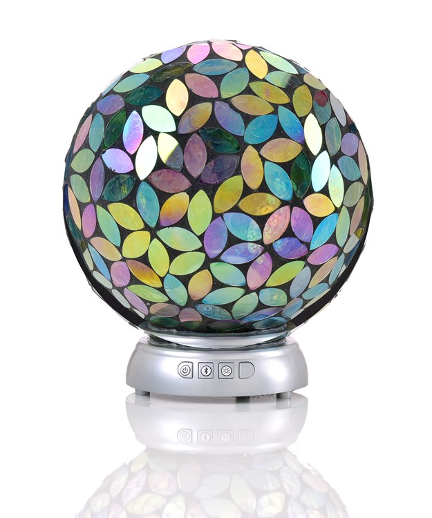 LED Lighted Ambience Orb w/Bluetooth Capability