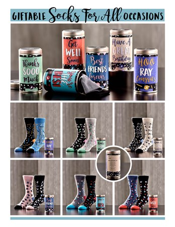 Yo Sox Unisex Gift Tin Socks Assortment