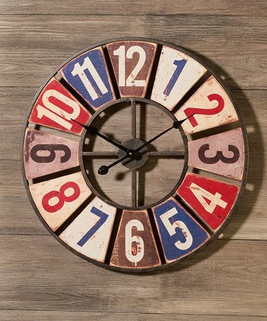 Metal/MDF Wall Clock