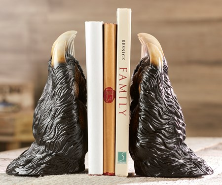 Bear Paw Bookends, Set of 2