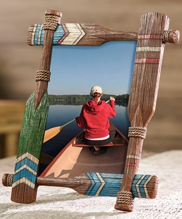 Large Paddle Design Photo Frame