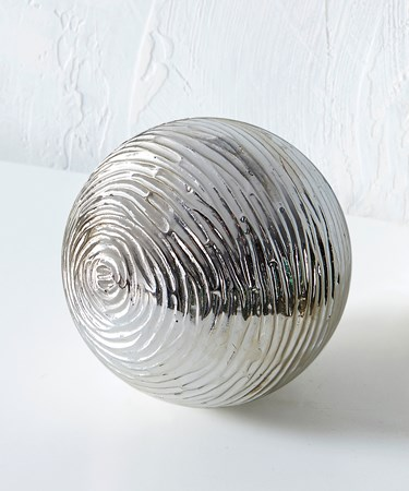 Silver Orb Table  Decor