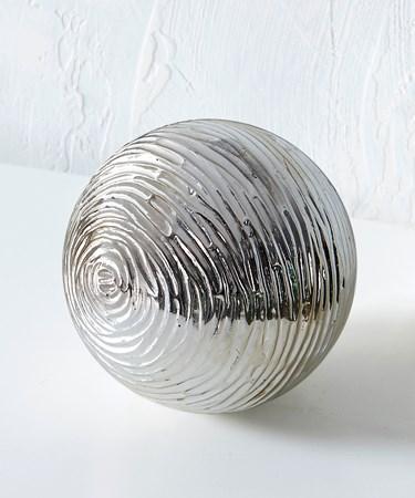 SilverOrbTableDecor