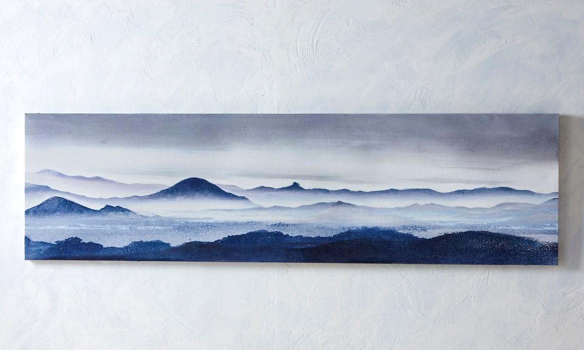 Blue Horizon Canvas Oil Print