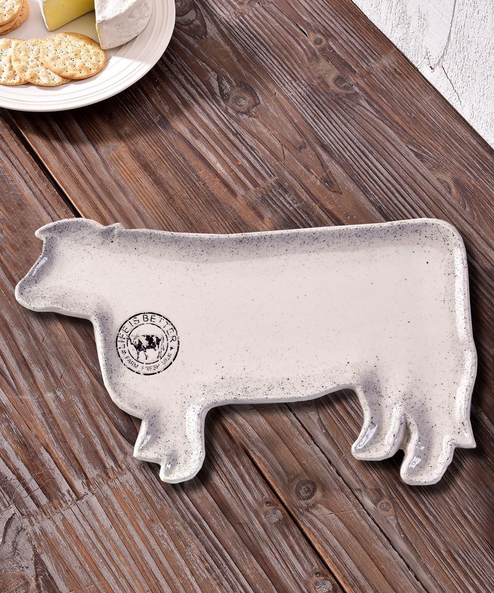 Ceramic Cow Plate