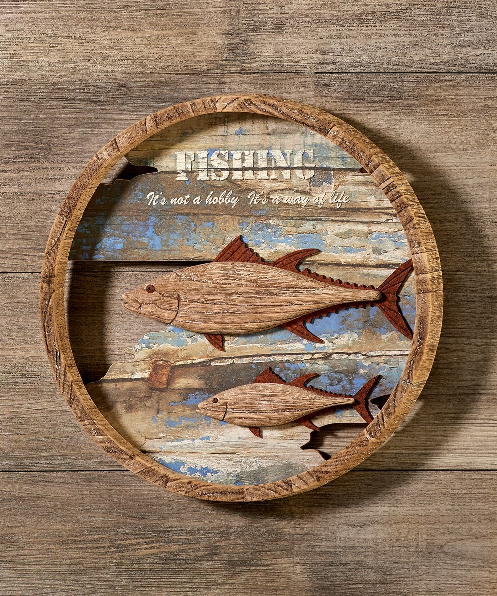 Wood Round Wall Sign