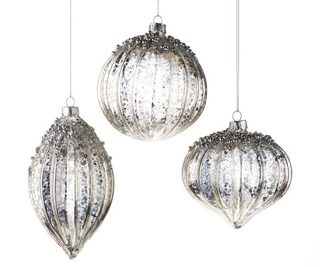 Glass Ball Tree Ornaments, 3 Asst.