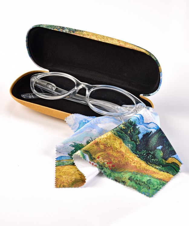 Van Gogh Glasses Case and Cloth 3 Asst w/Displayer