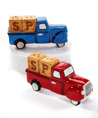 TrucksSaltPepperShakerSet2Asst