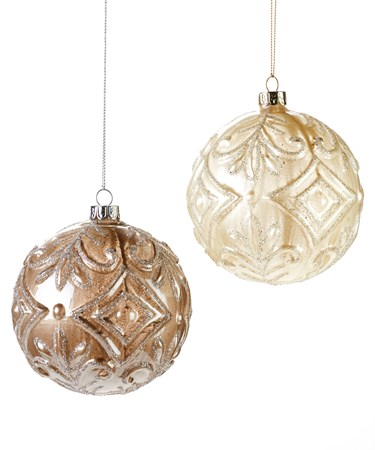 Glass Ball Christmas Tree Orn, 2 Asst.