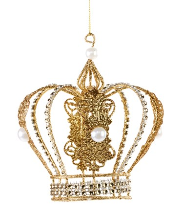 Iron Wire Gold Gltr.Crown Ornament