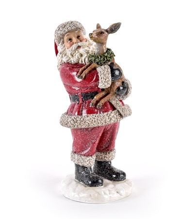 Santa and Deer Figurine