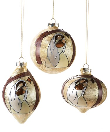 Glass Ornament, 3 Asst