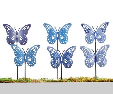 ButterflyPlanterGardenStake6Asst