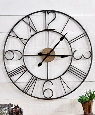 Metal & Wood Wall Clock