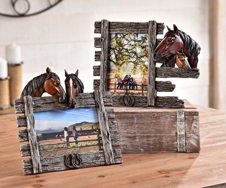 Horse Photo Frame, 2 Asst.