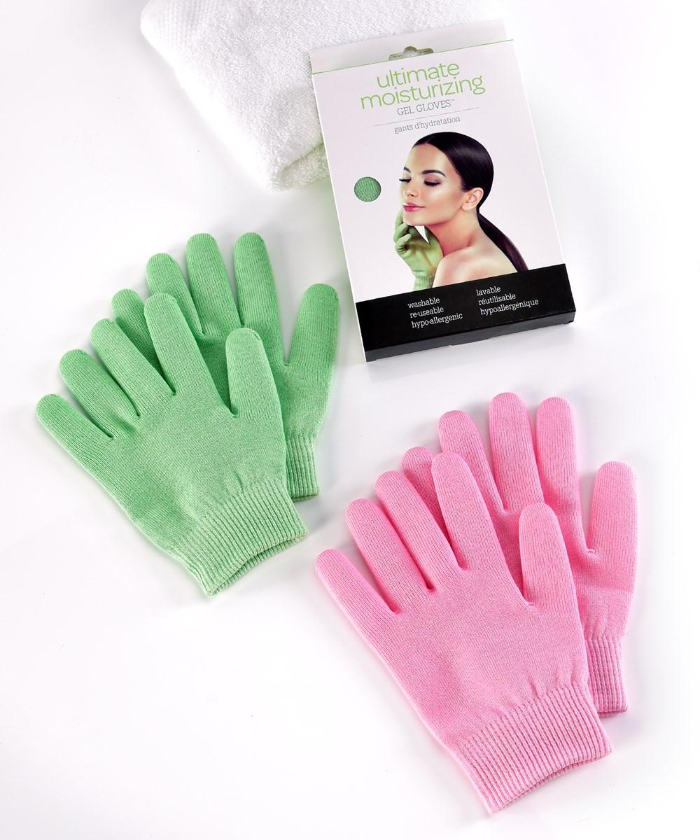 Ultimate Moisturizing Gel Gloves, 2 Asst w/Displayer