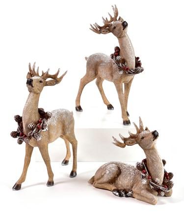 Deer Table Decoration, 3 Asst.