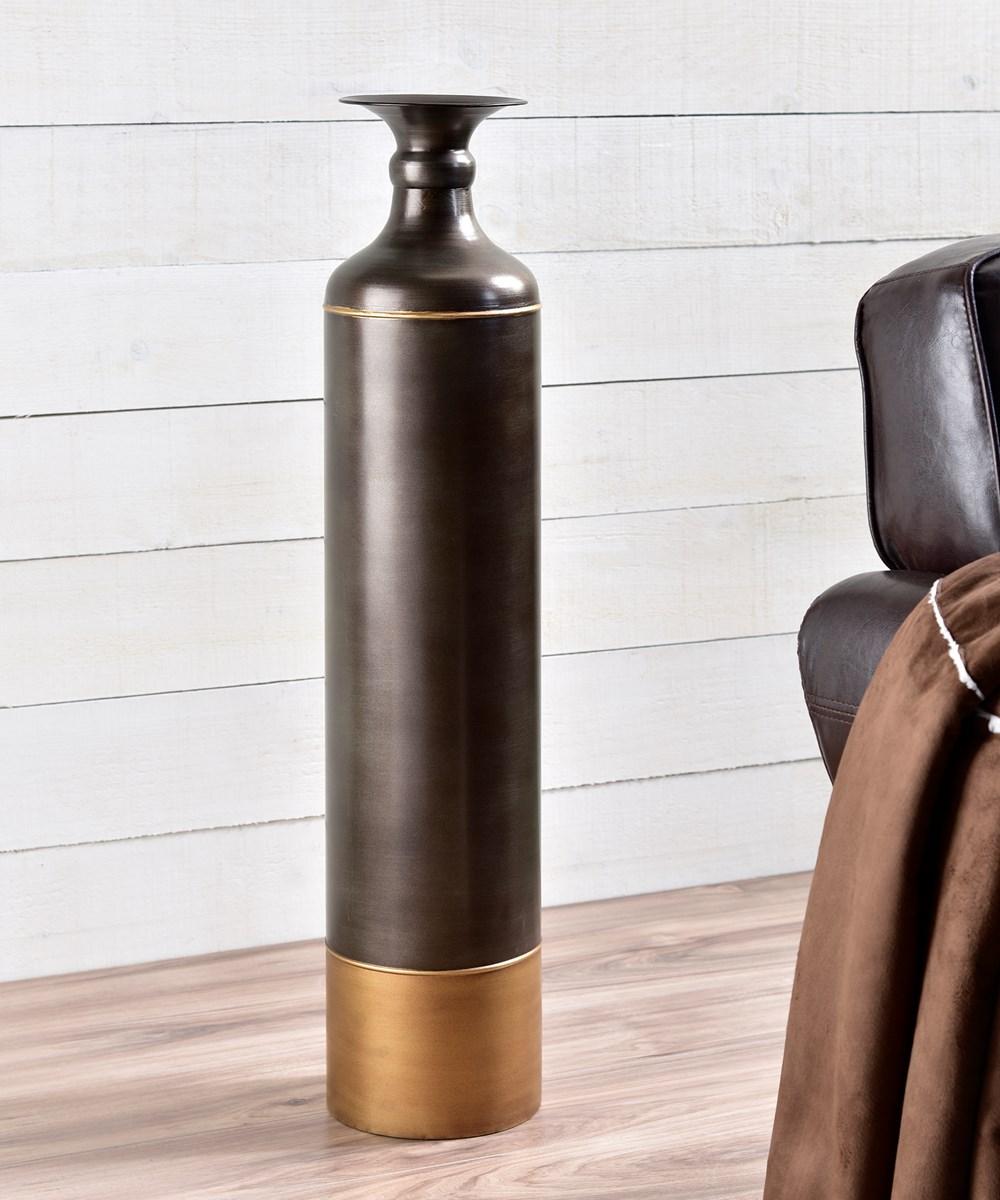 Large Metal Vase
