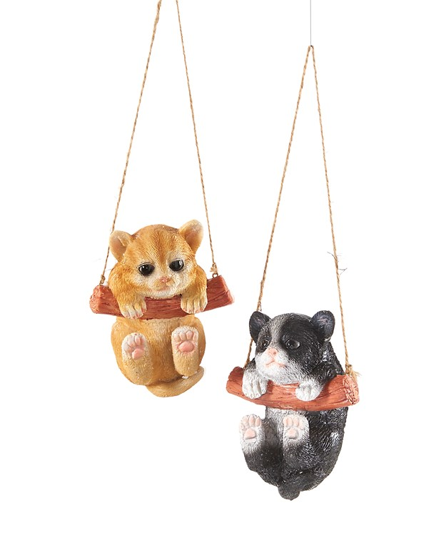 Hanging Cat Tree Decoration, 2 Asst.