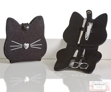 4 pc Manicure Cat Design Set