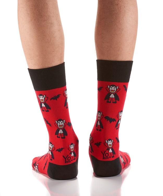 Men's Halloween Crew Sock, Vampire