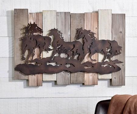 Running Horses Wall  Decor