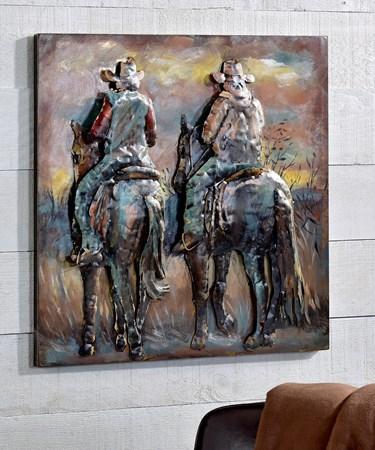 3D Cowboys Wall Art
