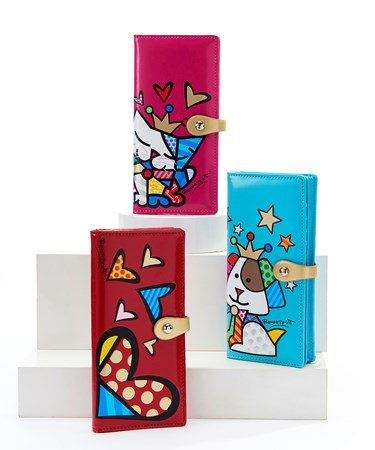 Romero Britto Large Clutch Wallet, 3 Asst.