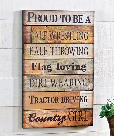 Wooden Proud to Be Wall Sign