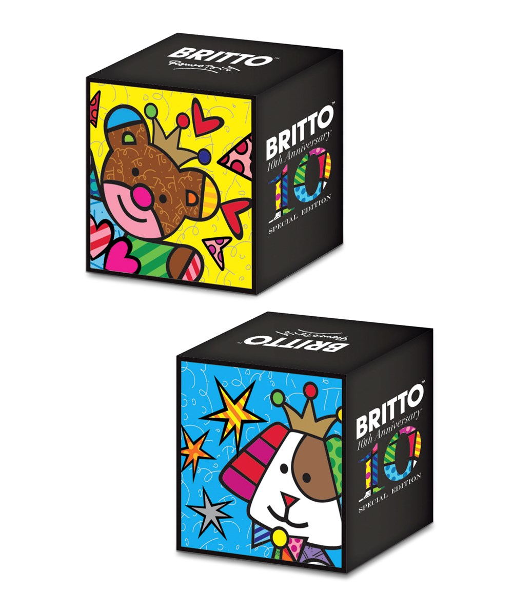 Romero Britto Lucky Elephant Design Figurine