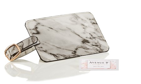 Marble Design Luggage Tag