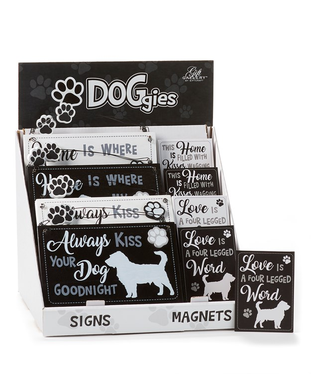 DOGgies Design Signs & Magnets w/Displayer