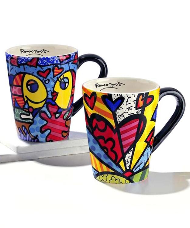 Romero Britto Mug, Icon Designs, 2 Asst.