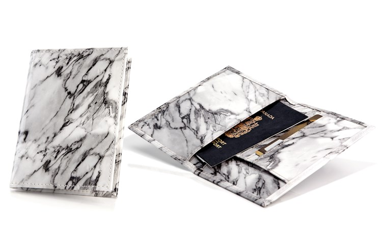 Marble Design Passport Cover