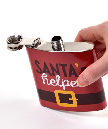 Stainless Steel Santa's Helper Hip Flask