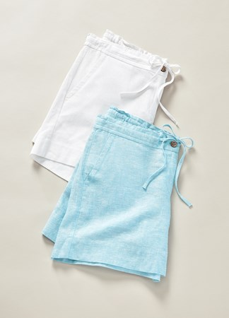 Charlie Paige, Linen Shorts, 2 Asst.