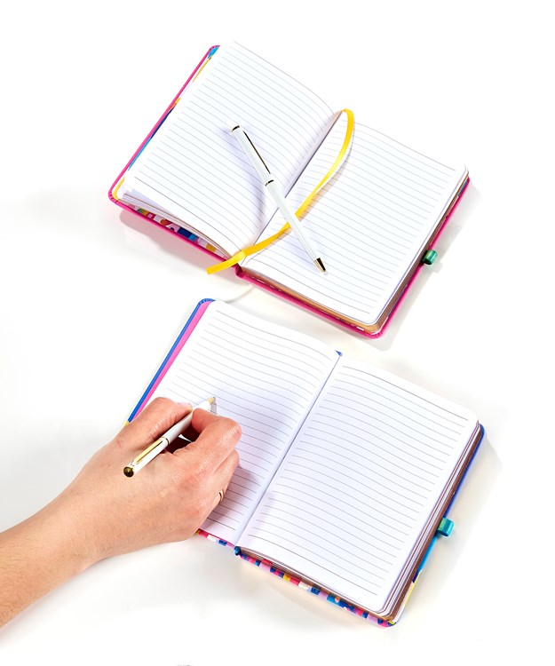 PU Softcover Bound Notebook w/Pen, 2 Asst.