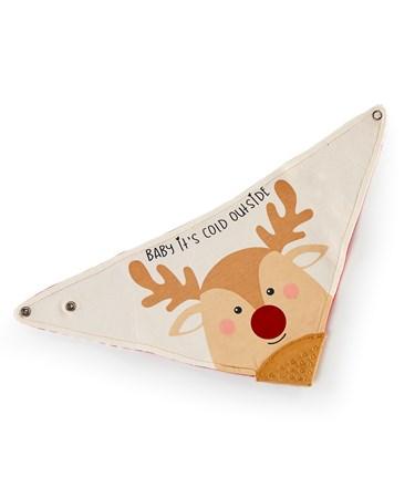 Reindeer Design Baby Bib