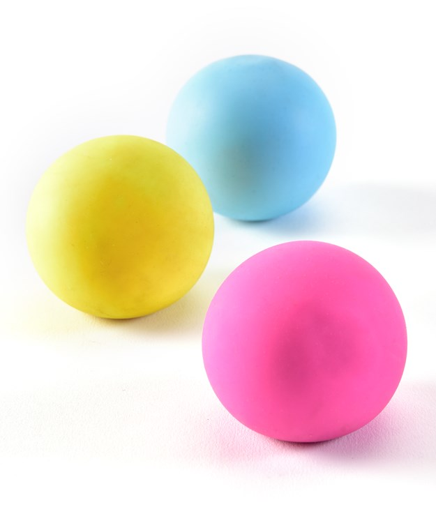 TPR Squeeze Color Change Ball, 3 Asst. w/Displayer