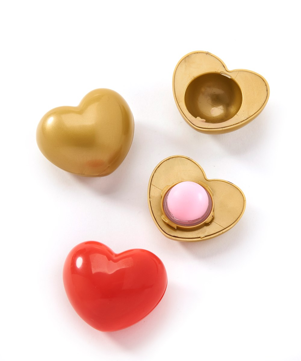 Domed Heart Lip Balm, 6 Asst.